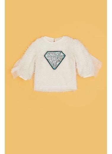 BG Baby Kız Bebek Beyaz Kazak 20Fw0Bg2410 Beyaz